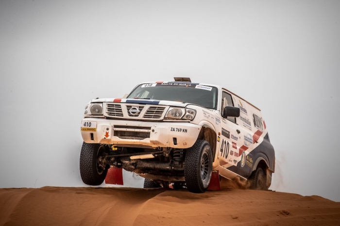 410 CANTONI Alfredo (ITA), BARTYAN Michele (AUS), Rhino S Team Hino, Nissan Patrol GR, Open, action  during Rally of Morocco 2018, Stage 2, Erfoud to Erfoud, october 6 - Photo Frederic Le Floc'h / DPPI
