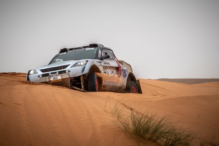 402 BOURGEOIS Pascal (FRA), BOURGEOIS Cyril (FRA), Team Bourgeois Competition, Toyota Renovatio GTR, Open, action  during Rally of Morocco 2018, Stage 2, Erfoud to Erfoud, october 6 - Photo Frederic Le Floc'h / DPPI