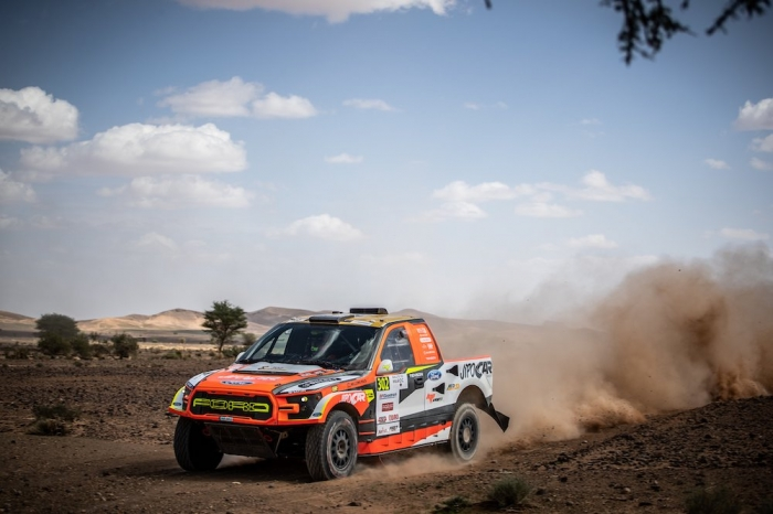 302 PROKOP Martin (CZE), TOMANEK Jan (CZE), MP-Sports, Ford Raptor RS Cross Country, auto, action  during Rally of Morocco 2018, Stage 3, Erfoud to Erfoud, october 7 - Photo Frederic Le Floc'h / DPPI