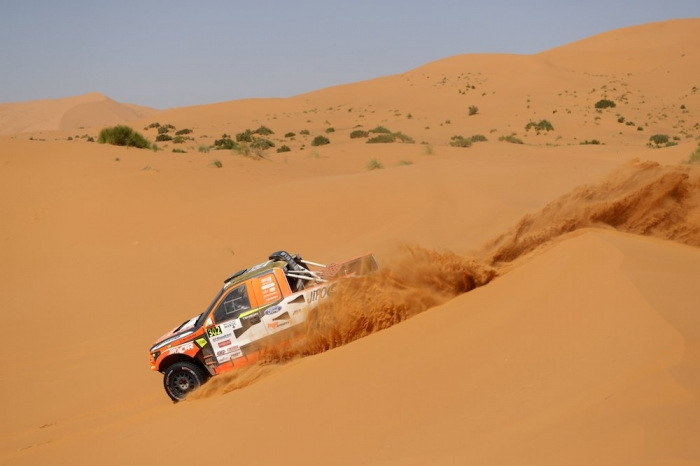 302 PROKOP Martin (CZE), TOMANEK Jan (CZE), MP-Sports, Ford Raptor RS Cross Country, auto, action  during Rally of Morocco 2018, Stage 4, Erfoud to Erfoud, october 8 - Photo Frederic Le Floc'h / DPPI