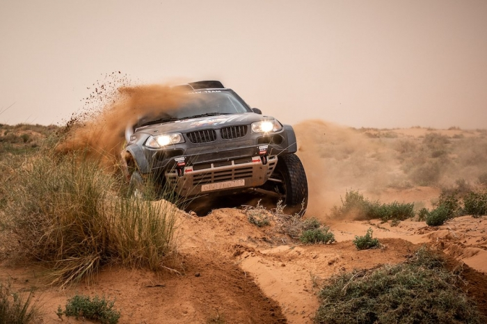 318 KROTOV Denis (RUS), TSYRO Dmytro (UKR), MSK Rally Team, BMW X3, auto, action  during Rally of Morocco 2018, Stage 1, Fes to Erfoud, october 5 - Photo Frederic Le Floc'h / DPPI