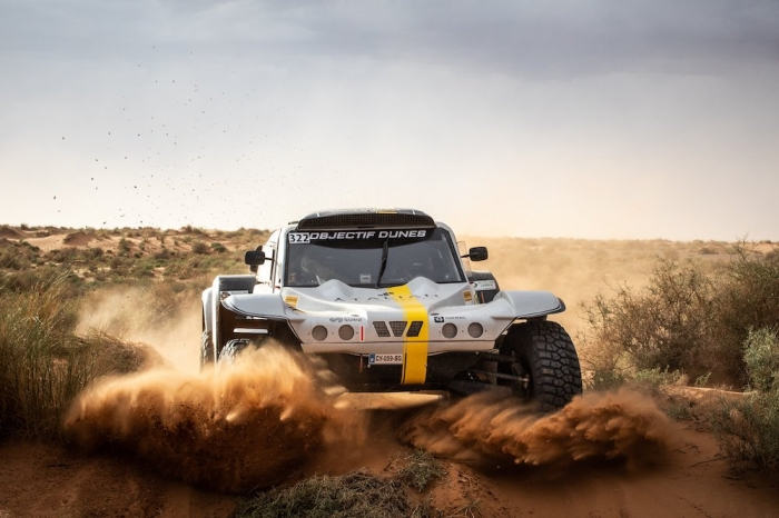 322 MAURICE Benoit (FRA), GANACHE Frederic (FRA), Benoit Maurice, Sans Original, auto, action  during Rally of Morocco 2018, Stage 1, Fes to Erfoud, october 5 - Photo Frederic Le Floc'h / DPPI