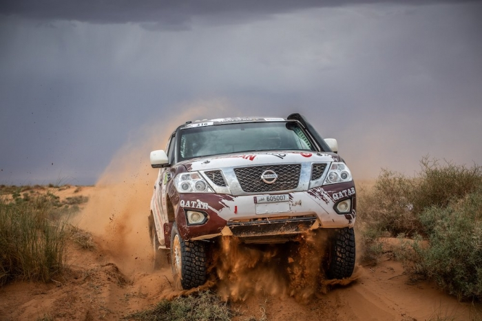 316 ABDULLA Adel (QAT), POLATO Jean-Michel (FRA), QX Rally Team, Nissan Y62, auto, action  during Rally of Morocco 2018, Stage 1, Fes to Erfoud, october 5 - Photo Frederic Le Floc'h / DPPI