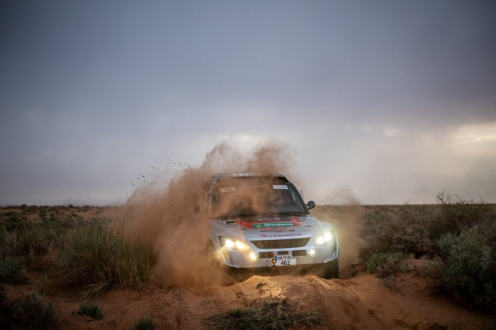 402 BOURGEOIS Pascal (FRA), BOURGEOIS Cyril (FRA), Team Bourgeois Competition, Toyota Renovatio GTR, Open, action  during Rally of Morocco 2018, Stage 1, Fes to Erfoud, october 5 - Photo Frederic Le Floc'h / DPPI