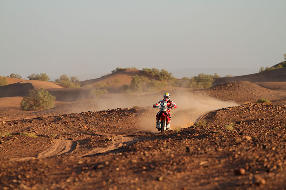 Le Team HRC Honda Racing au Rallye du Maroc